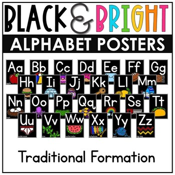 Alphabet Posters {Black&Bright}