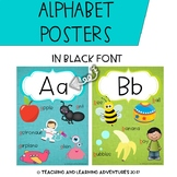 Alphabet Posters- Black Font
