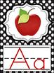 Alphabet Posters (Black Polka Dot)