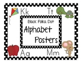 Alphabet Posters (Black Polka Dot)