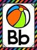 Alphabet Posters {Black Rainbow} {Many Picture Options} {F