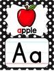 Alphabet Posters - Black & White Polka Dot