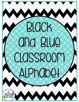 Alphabet Posters [Black and Blue]