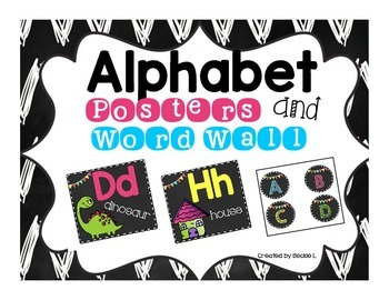 Alphabet Posters- Black and Brights