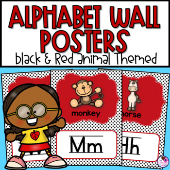 Alphabet Posters Black and Red