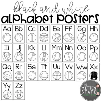 Alphabet Posters: Black and White