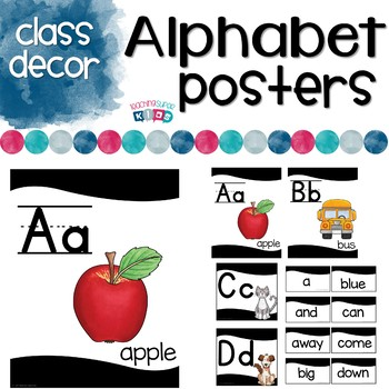 Alphabet Posters Black and White