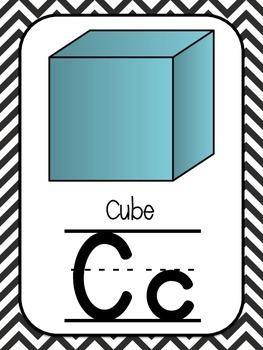 Alphabet Posters-Black and White Chevron