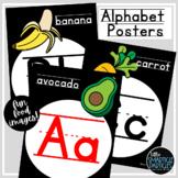 Alphabet Posters Black and White Classroom Decor