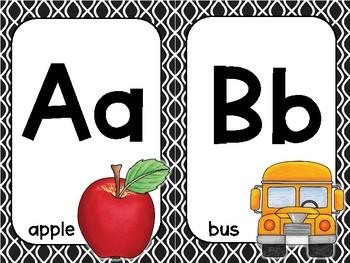 Alphabet Posters - Black and White Design