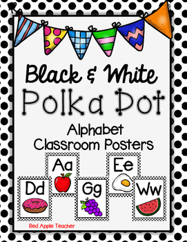 Alphabet Posters--Black and White Dot Pattern
