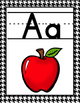 Alphabet Posters--Black and White Houndstooth Pattern