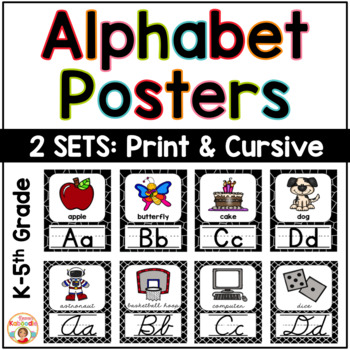 Alphabet Posters Black and White Theme