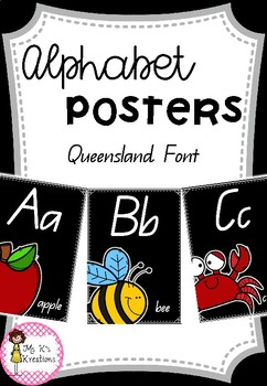Alphabet Posters - Black background
