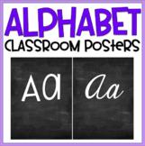 Alphabet Posters: Blackboard Style Manuscript & Cursive