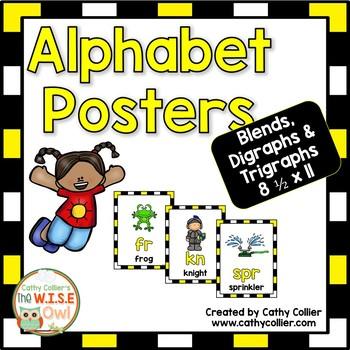 Alphabet Posters:  Blends, Digraphs & Trigraphs