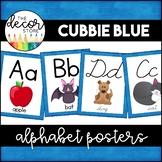 Alphabet Posters: Blue   Classroom Decor