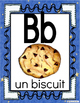 Alphabet Posters-Blue Colored-FRENCH Version with Picture /Word-FLS or Immersion