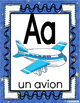 Alphabet Posters-Blue Colored-FRENCH Version with Picture