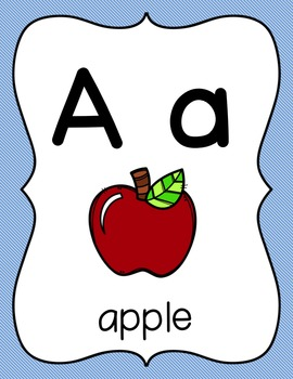Alphabet Posters: Blue and Green Stripes