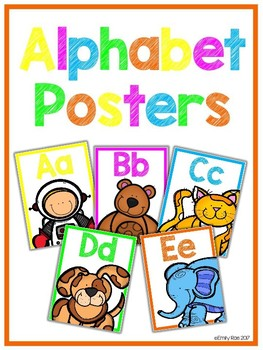 Alphabet Posters - Bold and Bright (White Edition)