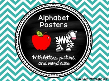 Alphabet Posters- Bright Chevron
