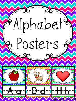 Alphabet Posters - Bright Chevron