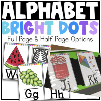 Alphabet Posters {Bright Dots}