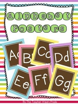 Alphabet Posters {Bright Owl}