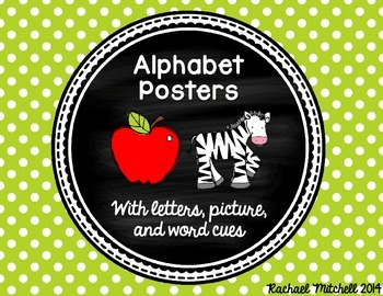 Alphabet Posters- Bright Polka Dots