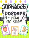 Alphabet Posters {Bright Polka Dots and Stripes}