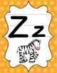 Alphabet Posters - Bright Shades of Polka Dot - D'Nealian