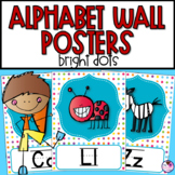 Alphabet Posters Bright Small Dots