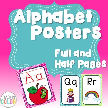 Alphabet Posters - Bright Tribal - 4 Versions