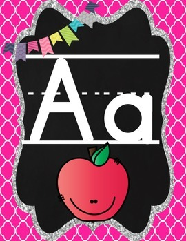 Alphabet Posters:  Bright and Black