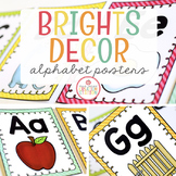 ALPHABET WALL CARDS POSTERS {BRIGHTS CLASSROOM DECOR}