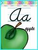 Alphabet Posters ~ Brights on White {D'Nealian Cursive}