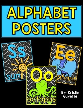 Alphabet Posters {Brights/Chalkboard}