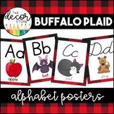 Alphabet Posters: Buffalo Plaid Lumberjack   Classroom Decor