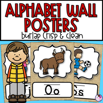 Alphabet Posters Burlap