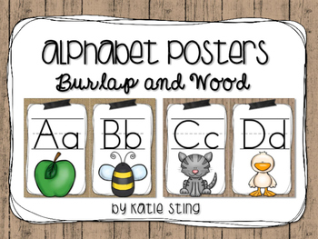Alphabet Posters (Burlap and Wood)