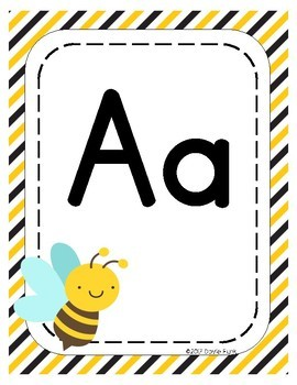 #roomdecor Alphabet Posters - Busy Bees - Primary Manuscript