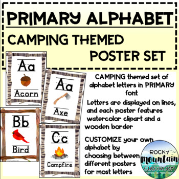 Alphabet Posters - CAMPING / NATURE themed