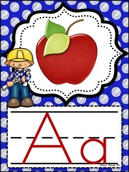 Alphabet Posters (CONSTRUCTION Themed multi-colored)