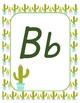 Classroom Decor Alphabet Posters - Cactus Print - Primary Italics