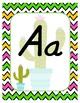 #roomdecor Alphabet Posters - Cactus Print - Primary Italics - Chevron