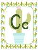 Classroom Decor Alphabet Posters - Cute Cactus - Primary Manuscript