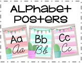 Alphabet Posters Cactus Themed Cursive and Print