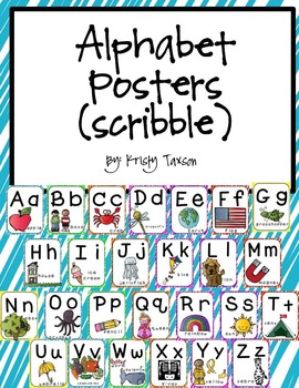 Alphabet Posters & Cards_Scribble