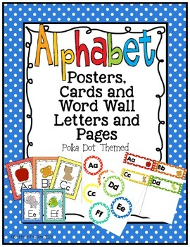 Alphabet Posters, Cards, and Word Wall Letters and Pages